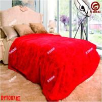 结婚毛毯 婚庆双人双层加厚大红色毛毯冬款床单团购毯子 200x230约7斤