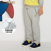 【3件3折 到手价:137】【加绒】Pawinpaw卡通小熊童装冬男童休闲长裤中小童