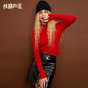 【限时直降:90】妖精的口袋针织衫女长袖秋装新款韩版短款chic早秋女装上衣
