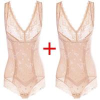 无痕夏季收腹束腰美人连体塑身内衣服产后计塑形美体衣款 S 适合75-99斤体重