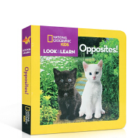 英文原版 Look and Learn: Opposites! 国家地理少儿版系列 动物杂志纸板书 全彩版 科学自然科