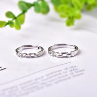 925纯银情侣戒指 银指环戒指 流行戒指 简单时尚大方小巧精致戒子