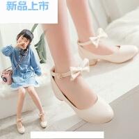 韩版女童皮鞋2018春季儿童高跟鞋小女孩主持表演礼服鞋公主鞋