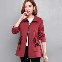 中年女春秋新款棉短外套上衣大码中老年女士妈妈装秋装立领夹克
