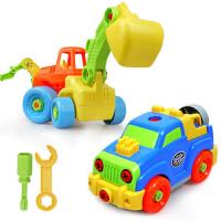 儿童益智拆装玩具可拆卸组装宝宝螺丝摩托沙滩车大飞机