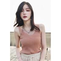 吊带背心女外穿夏装新款韩版内搭短款紧身打底衫V领性感上衣 均码