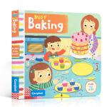 顺丰发货 英文原版童书 Busy Baking 繁忙的烘焙 机关操作活动玩具纸板书 1-5岁儿童英语趣味阅读亲子学前早