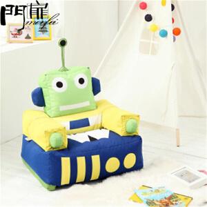 门扉 儿童沙发 创意机器人懒人沙发单人可拆洗涤纶豆袋儿童沙发