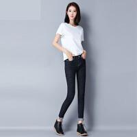 蓝牛仔裤女士秋季修身小脚裤2017新款弹力韩版大码铅笔裤