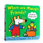 顺丰发货 英文原版Where Are Maisy's Friends? 梅西的朋友在哪里? 小鼠波波儿童启蒙纸板翻翻书