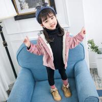宝宝外套女秋冬加厚加绒女童1-6岁2018新款韩版潮洋气小童棉夹克