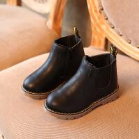 冬季2018秋冬季新款儿童靴子男童马丁靴女童鞋短靴加绒雪地靴棉靴皮靴秋冬新款