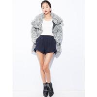 L04072冬季新款韩版简约单排按扣拉链宽松显瘦好搭配女羽绒服