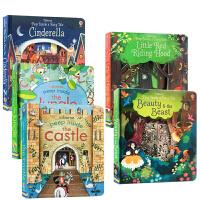 【全店300减100】Usborne英文原版绘本 Peep Inside A Fairy Tale Cinderella
