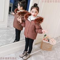 女童冬装外套韩版2018新款儿童棉衣大毛领女孩棉袄中大童洋气