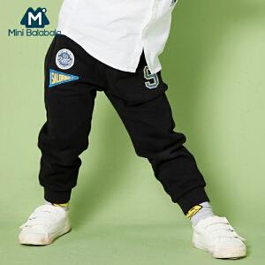 【每满199减100】迷你巴拉巴拉儿童装长裤春秋男童黑色裤子幼童休闲纯棉运动裤