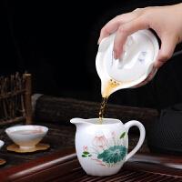 陶瓷盖碗大号泡茶杯茶壶功夫茶具三才普洱泡茶碗手抓壶
