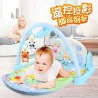 婴儿玩具脚踏钢琴躺着的健身架器音乐宝宝0-1岁脚蹬琴12个月女孩