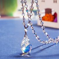 水晶长款毛衣链脖子装饰品颈链女挂件项链简约