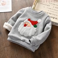 2018新款童装卫衣冬季男女童加绒加厚小宝宝圣诞休闲长袖保暖卫衣