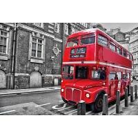木质拼图300/500/1000片儿童玩具装饰画 乳白色 1000片伦敦巴士