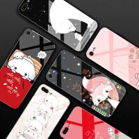 苹果7plus手机壳玻璃后iphone6女款防摔6s潮牌8个性7钢化plus镜面