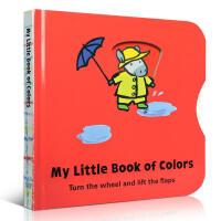 My Little Book of Colors颜色 幼儿启蒙认知英文原版读物 趣味玩具书 翻翻书 亲子绘本