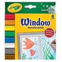[Crayola绘儿乐]8色可水洗橱窗装饰专用水彩笔 马克笔 58-8165