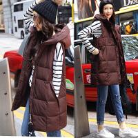 棉衣马甲女士外套冬季新女装韩版中长加厚潮羽绒棉外套