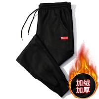 两条装 裤子男秋冬加绒加厚保暖小脚裤男裤子加绒男裤弹力休闲裤