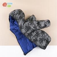 贝贝怡男童轻薄羽绒服9新款宝宝洋气保暖防风两面可穿连帽外套194S2134