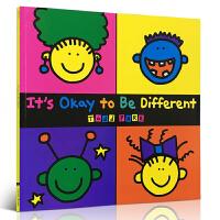 【全店300减100】英文原版绘本It's Okay To Be Different Todd Parr正视接受自己跟别