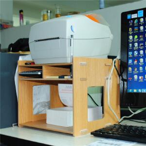 幽咸家居 打印机架子 桌面收纳整理 木制办公用具快递面单架子DIY创意打印机架