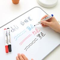 白板笔得力6811可擦水性白板书写笔 展示板笔 大容量 黑红蓝三色