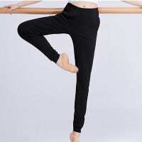 舞蹈裤女成人宽松形体裤子收口萝卜裤黑色阔腿健美长裤显瘦练功裤