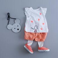 童装婴儿夏装女宝宝短袖T恤上衣女童装公主上衣