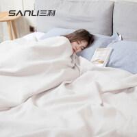 三利 A类英爵毛巾被 居家办公午休盖毯 柔软纱布盖毯 午睡沙发毯子床单