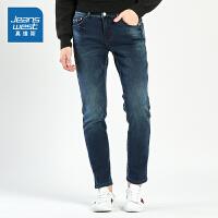 [限时抢:104.9元,真维斯周末狂欢仅限10.12-14]真维斯男装冬装 简洁弹力牛仔裤