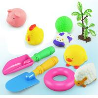 力辉玩具 宝宝洗澡玩具 11件套小动物发声搪胶软胶儿童沐浴戏水玩具