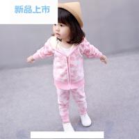女宝宝1婴儿童0衣服3岁半小童洋气秋冬装女童2春装韩版两件套装潮