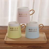 【包邮】创意字母喝水杯陶瓷马克杯 学生情侣礼品办公室家用咖啡杯