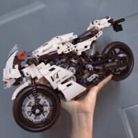 积木拼装玩具益智�犯叱赡炅⑻迥ν谐祷�车模型高难度男孩十岁以上