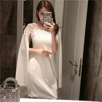 年会连衣裙2018春款新款气质白色聚会派对名媛小香风小礼服女显瘦 白色
