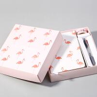 创意小清新文具火烈鸟系列礼盒装手账本套装计划本送朋友节日礼物