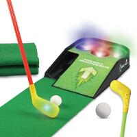 高尔夫推杆玩具练习器户外室内运动儿童高尔夫球套装带闪光音乐