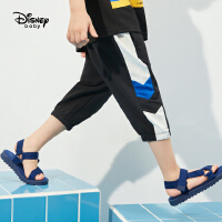 迪士尼男童裤子儿童运动裤七分裤薄款2021新款夏季潮帅气时髦