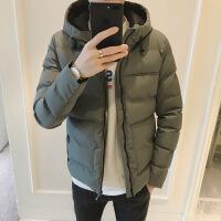 棉衣男冬季外套潮流青年加厚棉袄韩版修身帅气连帽上衣冬装男