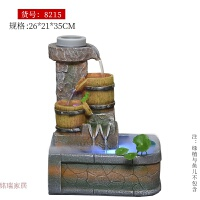 创意礼品时来运转假山流水喷泉加湿器风水轮家居室内盆景招财摆件 时来运转带雾化版