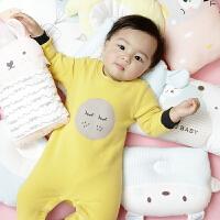 儿童睡衣男外出宝宝爬服婴儿连体衣闭档服装专柜