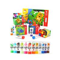 美乐 儿童手指画颜料无毒可水洗幼儿园宝宝绘画彩色涂鸦套装画册